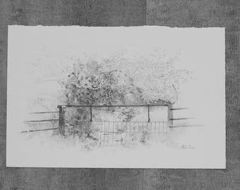Gates Of Kentucky-Goggins Watergate Original Drawing