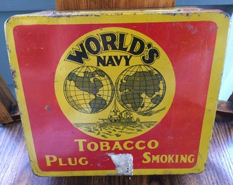 World's Navy Tobacco Tin