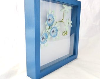 Passionflower paper framed