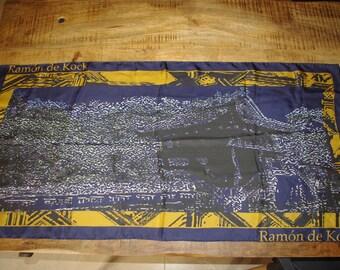 Ramon DE KOCK scarf silk natural - Pagoda.