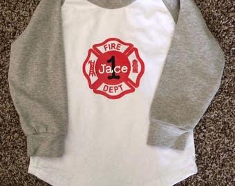 Fireman Birthday Shirt, Custom, Made to Order