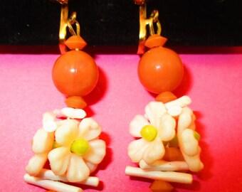 Vintage Fun Floral Earrings