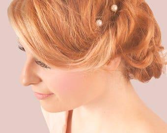 Pearl Vintage Silver or Gold Hair Pins - Bridal hair accessories - Pearl Hair Clips- Prom - Wedding