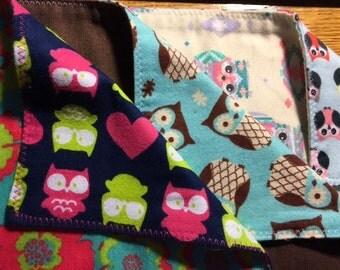 Burp Cloth - Owl Pack 1