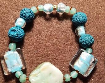 Abalone Aromatherapy Bracelt