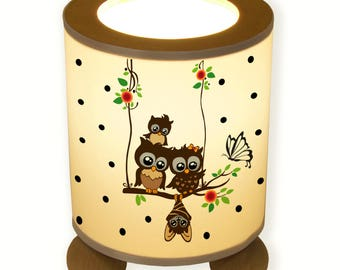 Table Night Stand Lamp Owl on Swing TL001