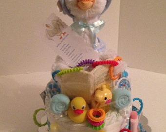 Mother Goose 5 song Diaper Cake