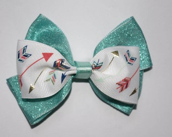 Arrows and Sparkles Double Boutique Bow