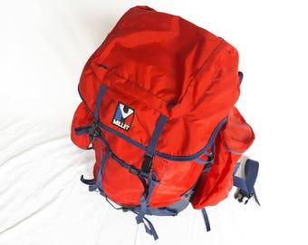 Backpack 90s FRANCE MILLET, red hiking bag, vintage SHERPA Reinhold Messner Millet