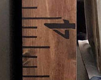 Wood ruler | Growth chart | Oversized ruler