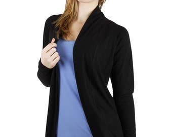 Bamboo Open Front Fitted Cardigan - Julia
