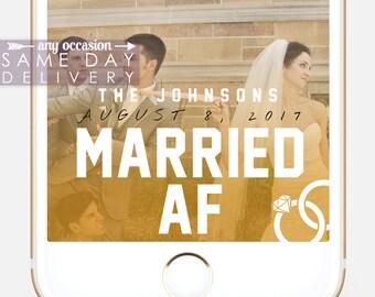 Funny Wedding Snapchat Filter, Married AF Snapchat Geofilter, Snapchat Filter, Custom Geofilter, Custom Snapchat Filter, Bridesmaids,