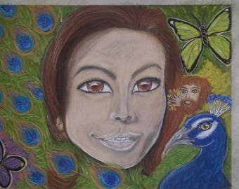 "Psychic Medium Artist to draw an 11"" X 14"" Portrait of You and the Spirit Guides that Surround You"