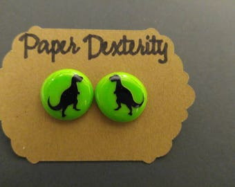 Dinosaur Stud Earrings-Choose Your Colors! Nickel Free Earrings
