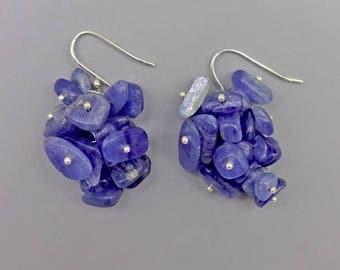 """1.5"""" Kyanite Cluster Earrings"""