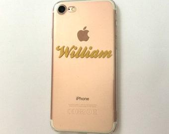 Name Phone Case, Custom Name Phone Case, Name iPhone Case, iPhone Case, Clear iPhone Case, Transparent iPhone Case, iPhone Cases