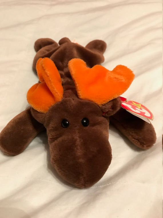 items similar to ty beanie baby  u0026quot chocolate u0026quot  the moose 1993 one of the first nine on etsy