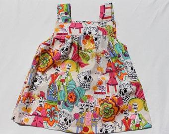 Toddler dress, Baby dress, baby, little girl, dia de los metros, calavera dress, day of the dead, goth kids