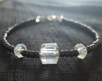 Clear Cube Bauble beaded bracelet