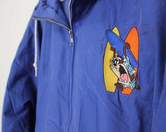 Vintage ACME Clothing Co Taz Surfing Looney Tunes Jacket
