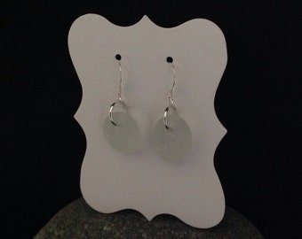 Genuine Seaham Sea Glass and sterling silver earrings