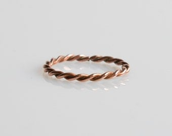 Copper Twist Ring
