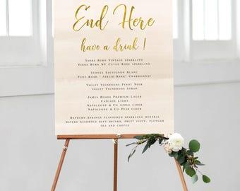 Printable Wedding Bar Sign | Bar Menu | Prohibitions End Here | DIY Printable | West Egg
