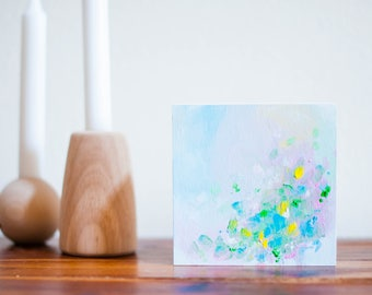 Abstract 5 x 5 Oil Painting // Spring Mini No. 4