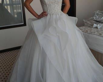 Bridal Gown Wedding Dress Rhinestone Detail Jeweled Corset Wedding Gown Bridal Dress Ball Gown