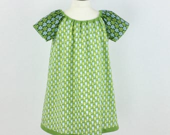 Dress girls dress girls summer dress flower green