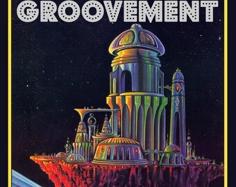 Groovement Alien Space Race Poster