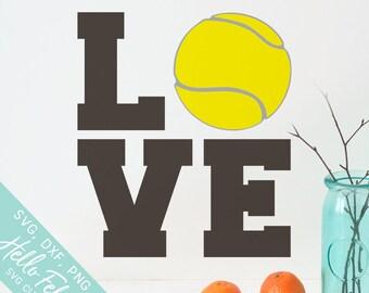 Tennis Svg, Love Svg, Love Tennis Svg, Sports Svg, Ball Svg, Dxf, Jpg, Svg files for Cricut, Svg files for Silhouette, Vector Art, Clip Art
