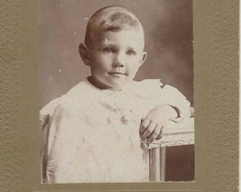 Antique 1880's Cabinet Card - Victorian Boy Photo