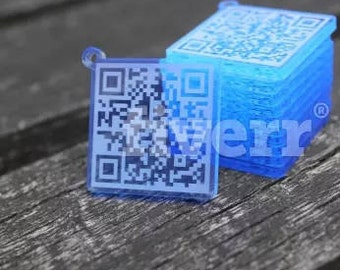 QR Code Keychain With Your URL with Personalized Message or URL