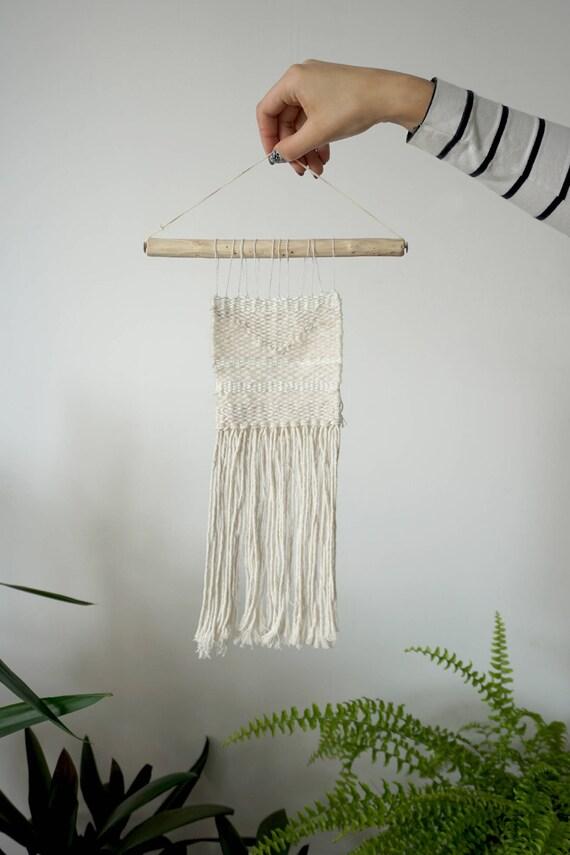 All white mini | Minimalist wall hanging