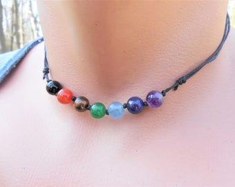 mens chakra necklace 7 chakra necklace chakra stones necklace chakra balancing necklace men healing necklace for him chakra jewelry gemstone