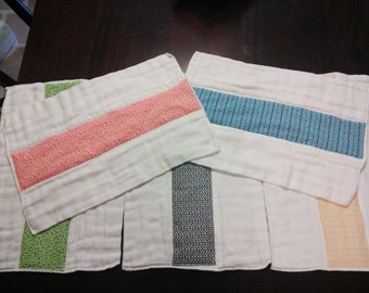 Decorated Burp Cloth - 2 Cloths