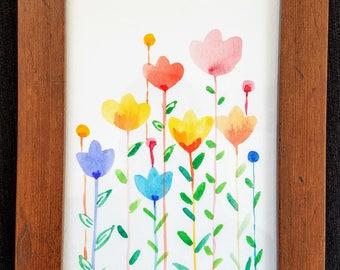 Spring flowers - watercolor painting
