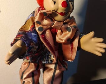 Creepy clown flexible doll