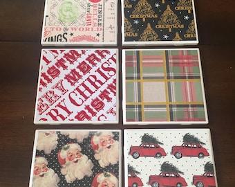 Set of 6 Christmas Coasters