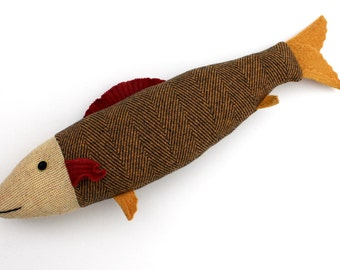 Goldfish wool fish pillow doll cabin ocean decor