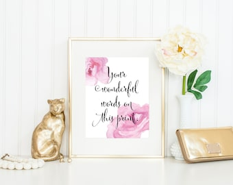 custom peony print peony wall art custom quote print custom print custom wall art dorm art pretty print custom nursery art