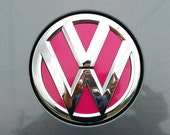 VW Beetle 2012 and Newer Hood and Trunk Emblem/Badge Vinyl Decal Inserts by Tonyabug Sticker Momma