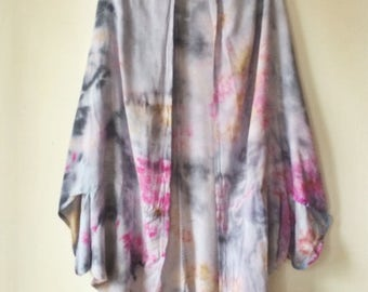 Hand Dyed Rayon Cloud Wrap in Sunrise , Anna Joyce, Portland, Oregon