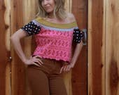 Off The Shoulder Blouse Spicy Toast medium