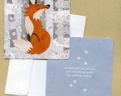 Holiday Winter Fox Notecard Set