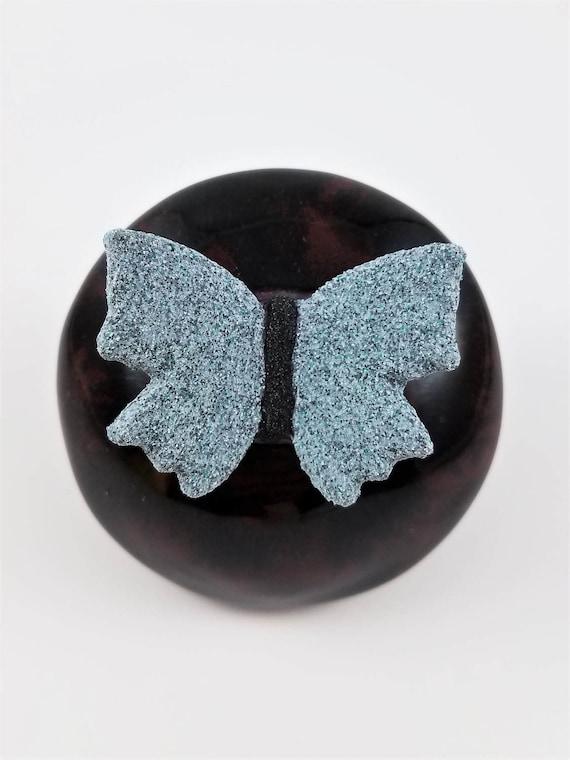 Meditation Rattle - Shaman Rattle - Spirit Rattle - Butterfly - Meditation Altar - Spiritual - Rattle - Relaxation Gift - Clay Rattle