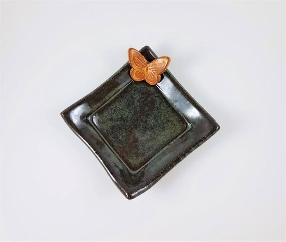 Handmade Pottery - Ceramic Dish - Decorative Tray - Stoneware - Ring Dish - Jewelry Dish - Soap Dish - Candle Holder - Tea Bag Holder