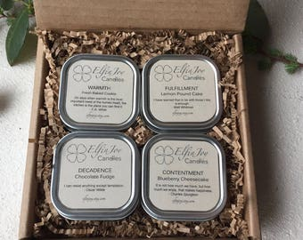 Inspiration Box - Incredible Edibles- Set of 4 Container Candles