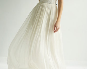 Sample Sale Silk and Lace Gown--Size 10